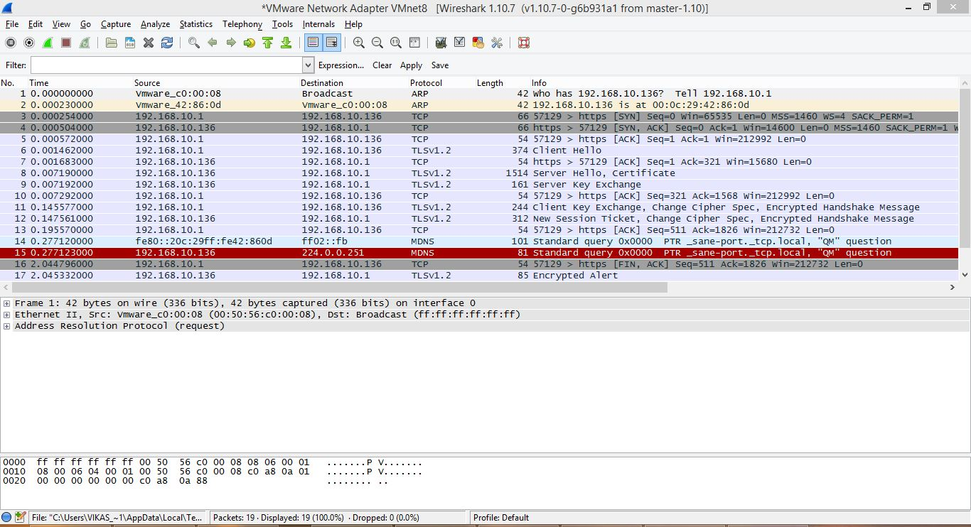 Tls resume serializethoughts wireshark session showing tcp 3 way handshake and tls session establishment xflitez Gallery